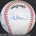 Miscellaneous, 3000-HIT-CLUB SIGNED BALL. Eight ballpoint signatures grace t...