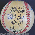 Miscellaneous, MIKE WITT GAME USED NO-HITTER BALL. Not just your garden vari...