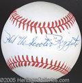 Miscellaneous, RIZZUTO SINGLE SIGNED BALL. Holy Cow! He signed this ba...