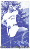 Miscellaneous, MARCIANO SIGNED PC AD. This postcard served the double purpose o...