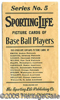 Miscellaneous, M116 SPORTING LIFE 'SERIES 5' ENVELOPE. The monumental card p...