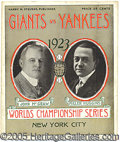 Miscellaneous, 1923 WORLD SERIES PROGRAM - GAME 1. We introduce thispr...