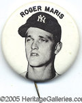 Miscellaneous, ROGER MARIS PIN. In his pursuit of 61 in '61, he was rebuked by ...