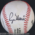 Miscellaneous, ROGER MARIS SINGLE-SIGNED BASEBALL. A very cleanly signed Rog...