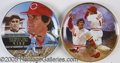 Miscellaneous, LOT OF (2) AUTOGRAPHED PETE ROSE PLATES. Two beautiful Pete R...