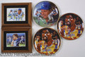 Miscellaneous, GREATEST ATHLETES AUTOGRAPHED PLATE/PLAQUE COLLECTION (5). Th...