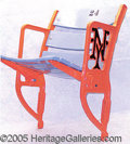 """Miscellaneous, POLO GROUNDS """"NY"""" END SEAT. Thisbeautiful and ..."""