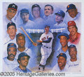 Miscellaneous, AUTOGRAPHED 500 HOME RUN PRINT. We have here a variation on a...