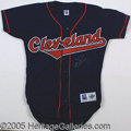 Miscellaneous, DENNIS ECKERSLEY SIGNED JERSEY. A Cleveland Indians size 40, ...