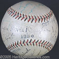 Miscellaneous, 1930 CUBS BALL. The Cubs of 1930, despite a star-studded rost...