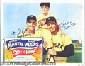 """Miscellaneous, """"SAFE AT HOME"""" SIGNED LOBBY CARD. As the mighty Yankees of 1961 ..."""