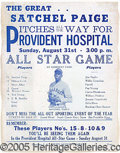 Miscellaneous, NEGRO LEAGUE EVENT POSTER. We can precisely date this adverti...