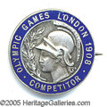 Miscellaneous, 1908 OLYMPICS 'PARTICIPANT' BROOCH. The IV Olympiad of the moder...