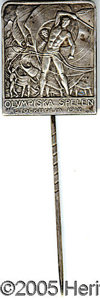 Miscellaneous, 1912 STOCKHOLM OLYMPIC PIN. This silver pin from the 1912 O...