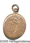 Miscellaneous, 1906 ATHENS PENDANT (BRONZE). With the resumption of internation...