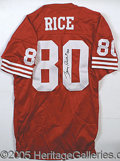 Miscellaneous, JERRY RICE SIGNED JERSEY. An autographed SF 49ers jersey signed ...