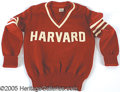 Miscellaneous, VINTAGE HARVARD SWEATER. Heavy, high-quality wool sweater, wi...
