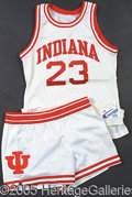 Miscellaneous, GAME WORN 1987-88 KEITH SMART INDIANA UNIVERSITY HOME JERSEY.