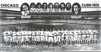 "1932 CHICAGO CUBS TEAM PHOTO NEGATIVE. P This incredible 11 x 19 1/2"" negative of the 1932 Cubs is beyond descripti..."