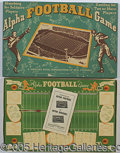 """Miscellaneous, """"ALPHA"""" FOOTBALL GAME. Among the hobby's more obscure parlor div..."""