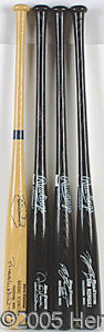 "Miscellaneous, COLLECTION OF FOUR AUTOGRAPHED BATS. These bats are all unused ""..."