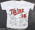 Miscellaneous, MINNESOTA TWINS TEAM SIGNED JERSEY. This autographed jersey a...