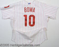Miscellaneous, LARRY BOWA SIGNED JERSEY. This perfectly replicated Larry Bow...