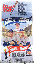 """Miscellaneous, """"SAFE AT HOME"""" MOVIE POSTER. As printed, this movie poster wa..."""