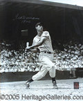 "Miscellaneous, FOUR TED WILLIAMS AUTOGRAPHED ITEMS. 1) Great 16 x 20"" photo of ..."