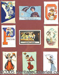 Miscellaneous, EXCEPTIONAL COLLECTION OF COLORFUL C. 1905 IVY LEAGUE FOOTBALL P...