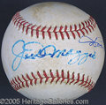 Miscellaneous, JOE AND DOM SIGNED BALL. Though the medium is somewhat recent, i...