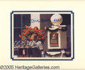 Miscellaneous, SIGNED & NUMBERED MICKEY MANTLE HOF INDUCTION PICTURE. This8...