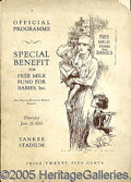 Miscellaneous, OFFICIAL PROGRAMME SPECIAL BENEFIT 6/26/24 YANKEE STADIUM. An...