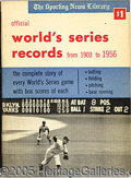 Miscellaneous, (32) SPORTING NEWS WORLD SERIES RECORD BOOKS 1953-84. This lo...
