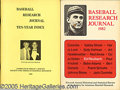 Miscellaneous, (135) SABR PUBLICATIONS. This incredible lot represents almos...