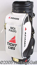 Miscellaneous, QUALITY LEATHER NICK FALDO GOLF BAG. Probably a promotional i...