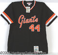 Miscellaneous, MCCOVEY SIGNED COMMEMORATIVE JERSEY. Mitchell & Ness provide...