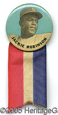 Miscellaneous, JACKIE ROBINSON PM10 STADIUM PIN WITH RIBBON. This beautiful ...
