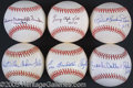 Miscellaneous, SIX HALL OF FAME SIGNED BALLS. With a little extra flair, each o...