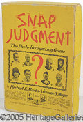 Miscellaneous, MOST UNUSUAL 1933 SIMON AND SCHUSTER GAME WITH COBB, OTHERS. Com...