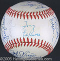 Miscellaneous, 1983 CHICAGO WHITE SOX TEAM AUTOGRAPHED BALL. 1983 was a brea...