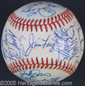 Miscellaneous, 1984 CHICAGO CUBS AUTOGRAPHED TEAM BALL. Chicago Cub post sea...