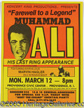 "Miscellaneous, 1979 MUHAMMAD ALI ""FAREWELL TO A LEGEND"" POSTER. A visually i..."