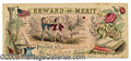 Miscellaneous, VERY EARLY STUDENT MERITY CARD WITH BALLGAME SCENE. Lovely color...