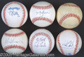 Miscellaneous, AUTOGRAPHED BASEBALL COLLECTION. This collection of autographed ...