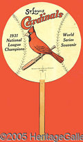 Miscellaneous, '31 WORLD SERIES CONCESSION. The term 'fan,' it's said, is a der...