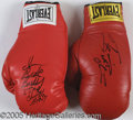 Miscellaneous, GROUPT LOT(2)AUTOGRAPHED BOXING GLOVES. Group&n...