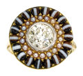 Estate Jewelry:Rings, Antique Diamond, Seed Pearl, Agate, Platinum, Gold Ring . ...