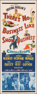 "Movie Posters:Musical, There's No Business Like Show Business (20th Century Fox, 1954). Folded, Fine/Very Fine. Insert (14"" X 36""). Musical.. ..."