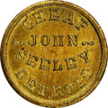 Civil War Merchants, 1863 Token John Seeley, Detroit, MI., Fuld-225BQ-3b, MS66 NGC. Struck in brass. A sharp piece, visually almost flawless. Ea...